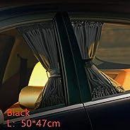 CHAHANG 2pcs Sunshade Car Curtain Car Side Window Sunshade Curtains Auto Windows Curtain Sun Visor Blinds Cove