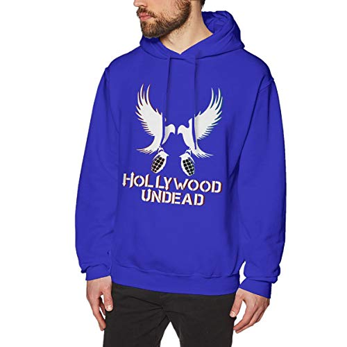 James Home Herren Hollywood-Undead Pullover Hoodie Langarm Sweatshirt Hoodies für Herren Jungen Kleidung Outdoor Mantel Tops Blau M -
