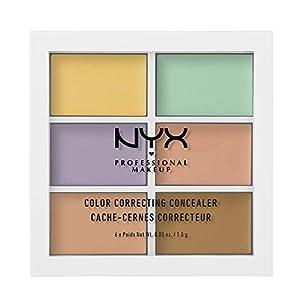 NYX Professional Makeup Color Correcting Palette, Concealer Makeup Palette, 6 cremige mischbare Farbtöne