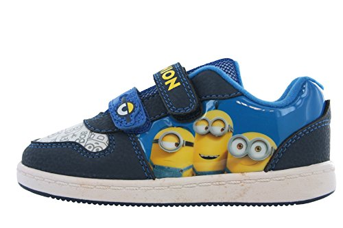 DESPICABLE ME MINIONS Morton bleu et jaune fermeture scratch BASKETS tailles RU enfant 7 - Adulte 1
