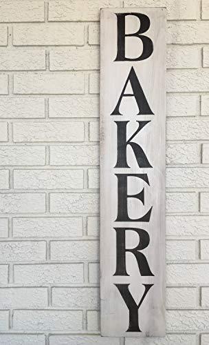 AntonioKe75 Cartel de Madera rústica panadería, Cartel Pintado a Mano para decoración...