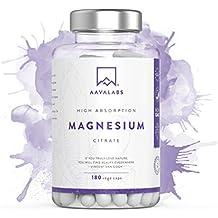 Suplemento de citrato de magnesio [ 400 mg ] de Aava Labs – Calidad nórdica - Para el apoyo de un funcionamiento normal de los huesos, sistema nervioso y ...