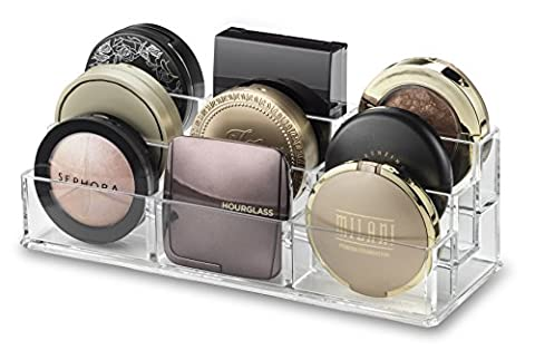 byAlegory Tiered Compact Makeup Organizer | 9 Räume, 3 Stufen (Pallet Nagel)
