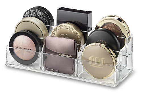 byAlegory Tiered Compact Makeup Organizer | 9 Räume, 3 Stufen