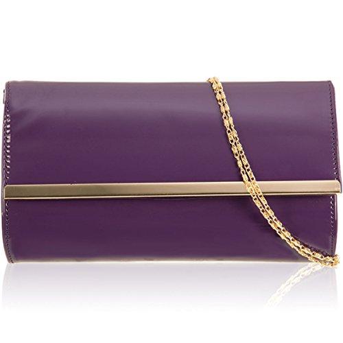 xardi London Nuovo brevetto borsa donna pochette sposa Designer partito di sera Prom Regno Unito Purple