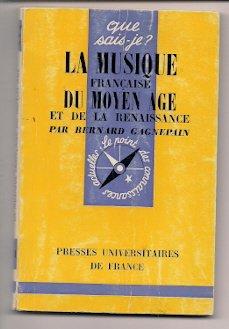 La musique française du Moyen âge et de la Renaissance