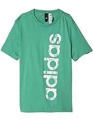 adidas Linear Logo Camiseta, Niños, Verde (Verbas), 152