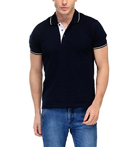 Scott International Men's Cotton Polo T-Shirt (sp3xxxl_Navy blue)