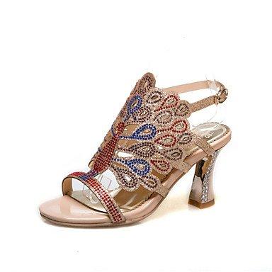 Rtry Femmes D'été Sandales Club Chaussures Glitter Personnalisé Matériel Partie De Mariage Et Robe De Soirée Chunky Talon Strass Boucle Us10.5 / Eu42 / Uk8.5 / Cn43