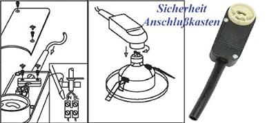 Trango® Sicherheits - GU10 Anschlusskasten Fassung Sockel für LED Halogen Einbaustrahler Einbauleuchten Strahler TÜV/GS geprüft von Trango - Lampenhans.de