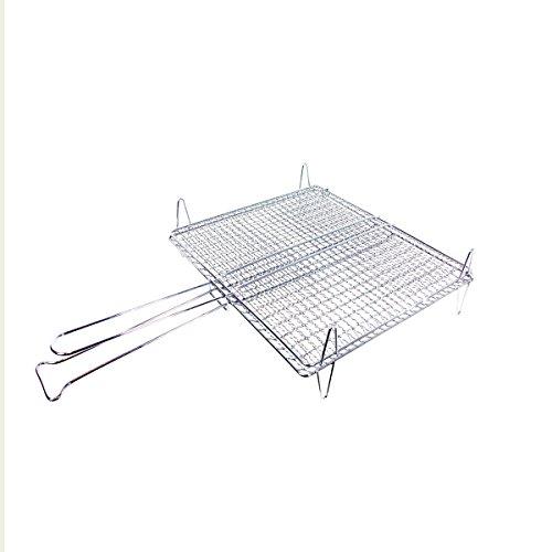 Edilceramiche pasini griglia barbecue doppia con piedini per pesce bq300