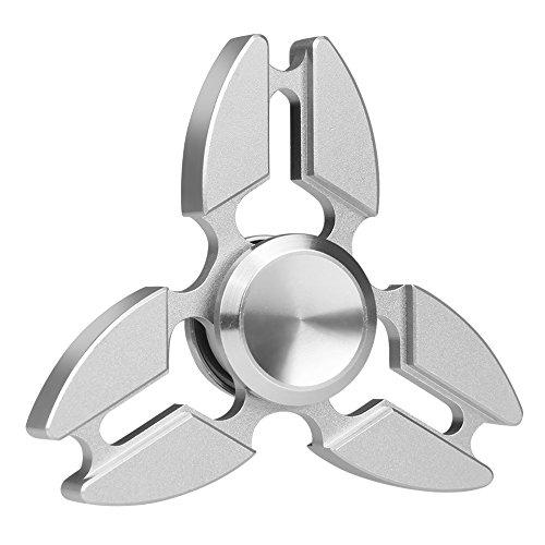 Preisvergleich Produktbild Hand Spinner, Vitutech Hand Spinner Fidget Tri-Spinner Fidget Spielzeug Ultra Dreieck Krabbe Form Dekompression Spinner Spielzeug für Kinder und Erwachsene ( Silber )