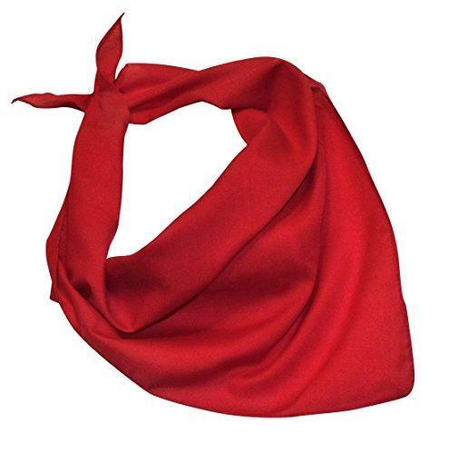 Preisvergleich Produktbild Teichmann Unifarbenes halbes Nickituch / Bandana in leuchtendem Rot / Halstuch / Karl