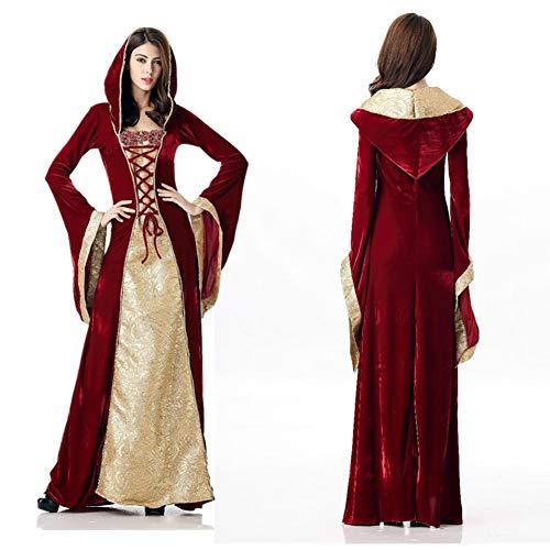 Erwachsene Für Aristokrat Kostüm - JH&MM Halloween Frau Kostüm Gericht Aristokrat Königin Erwachsenenrolle Party Game Maskerade Show Kleid,M