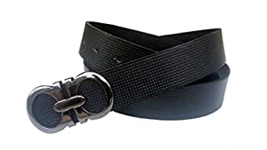 Just Click Fashion Black Pure Leather Belts For Men's
