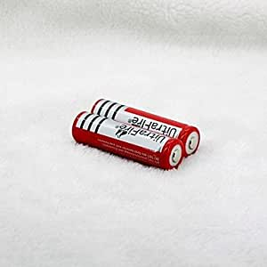 TL ultrafire hy 18650 3.7v Li-ion rechargeable 4200mAh de la batterie (2pack, rouge)