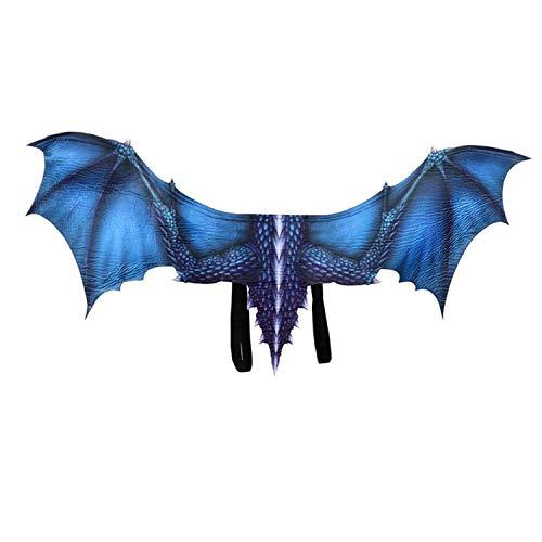 Blaue Raupe Kostüm - Unique Life Halloween-Kostüm Dinosaurio, Cosplay, Tierflügel, Zubehör Gr. Einheitsgröße, blau