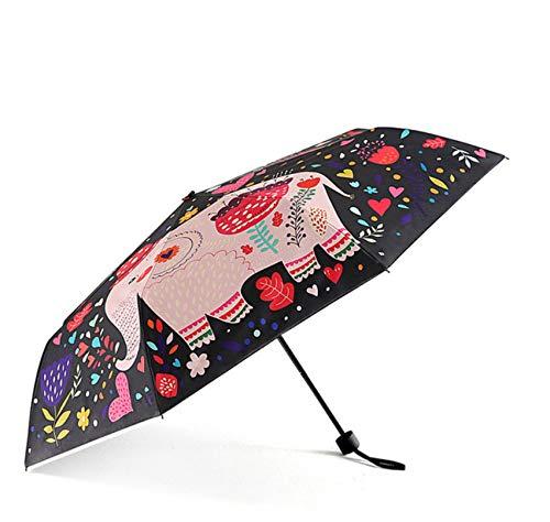 Paraguas Plegable Elefante Creativo Lindo Mini Paraguas De Viaje Ligero Compacto Compacto Lluvia Mujeres Hombres Impermeable/UV Parasol Protector A1