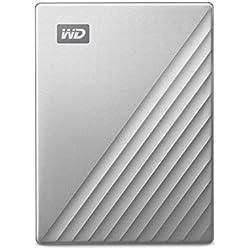 WD My Passport Ultra for Mac Disque dur portable USB-C pour Mac, Argenté, 2 To