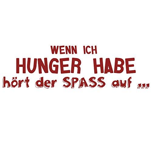 WANDKINGS Wandtattoo - Wenn ich Hunger habe hört der SPASS auf … - 85 x 26 cm - Dunkelrot - Wähle aus 5 Größen & 35 Farben