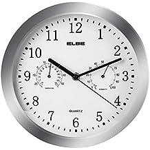 Elbe RP-3005-P - Reloj de pared con termómetro y higrómetro, color