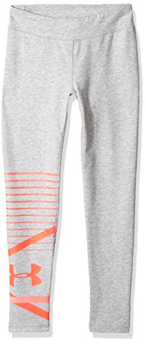 Under Armour Mädchen Finale Knit Leggings Overcast Gray Full Heather/After Burn YLG