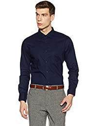 Diverse Men's Solid Regular Fit Cotton Formal Shirt