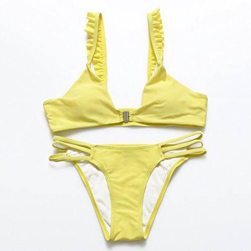 LD@Semplice solido di colore giallo prima increspato spalla Banda corpo