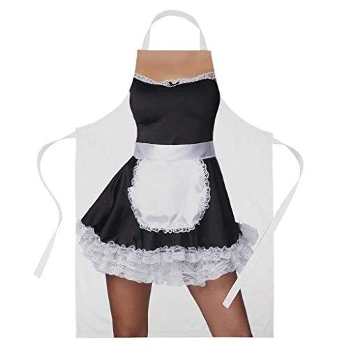 French Kinder Kostüm Maid - Jhonangel Band saubere Kleidung Sexy French Maid Kostüm Funny Valentine BBQ Kochen Backen Schürze