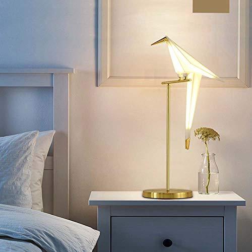 ETH LED Tausend Papier Kran Vogel Überzug Helle Gold Schmiedeeisen Pvc-farbe Wohnzimmer Esszimmer Schlafzimmer Bar Tischlampe Beleuchtung Einzigen Kopf Roman
