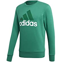 adidas Essentials Big Logo Sudadera Crew, Hombre, Essentials Big Logo Crew, Bold Green