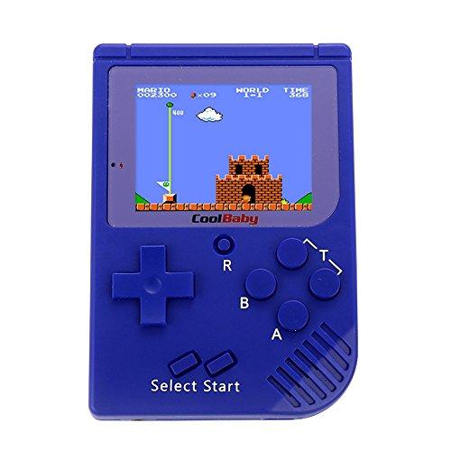 Zantec 2.5 Zoll LCD Display, Mini Retro Handheld Spielkonsole Eingebaute 129 Spiele