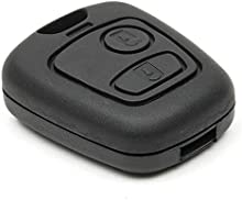 2Botón remoto clave de entrada sin llave Fob Shell caso Vivienda para Citroen C1-C4Peugeot 206207306307