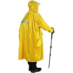 Anyoo Unisex Rain Coat Senderismo Impermeable Empaquetado Largo