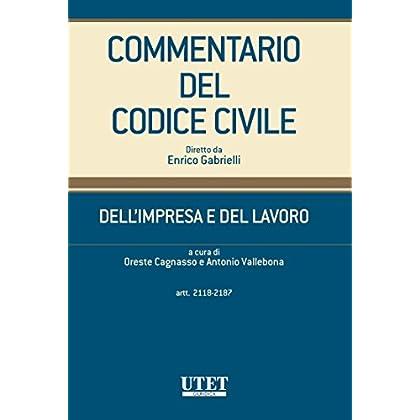 Dell'impresa E Del Lavoro - Artt. 2118-2187
