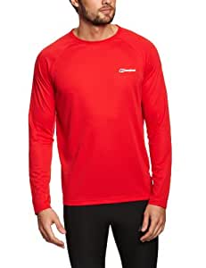 Berghaus Men's Essential Long Sleeve Crew Baselayer - Extreme Red, X-Large