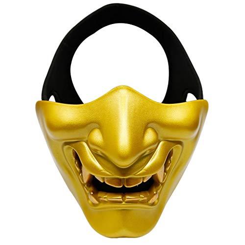 Zerama MA-91 Outdoor-Half Face Lächeln Halloween-Party-Masken-CS Spiel Cosplay Schutzmaske