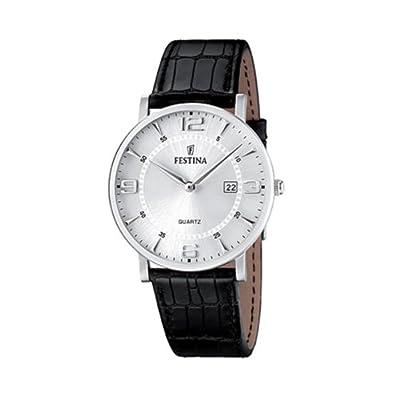 FESTINA F16476/3 - Reloj de caballero de cuarzo, correa de piel color negro de Festina