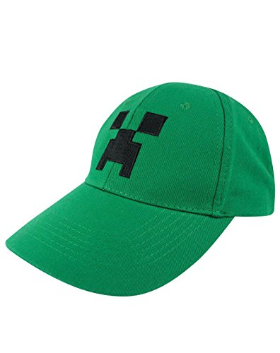 Official Green Creeper Minecraft Kids Baseball Summer Cap Age 5-12