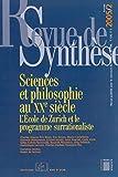 Revue de Synthese 2005 / 2-N°126 - Sciences et Philosophie au Xx Siècle
