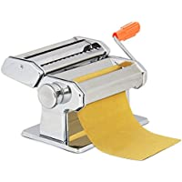 Sailnovo frische Pasta Maker-Edelstahl Pasta Walze Maschine Cutter mit Klemme für Spaghetti Nudeln Lasagne-Einfache Reinigung und Verwendung