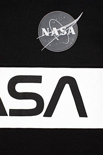 Alpha Industries Crewneck Sweater NASA Inlay rep. blue Black