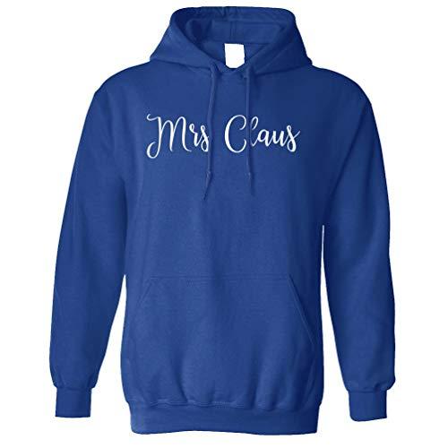 Weihnachten Kapuzenpullover Mrs Claus Slogan Royal Blue Large ()