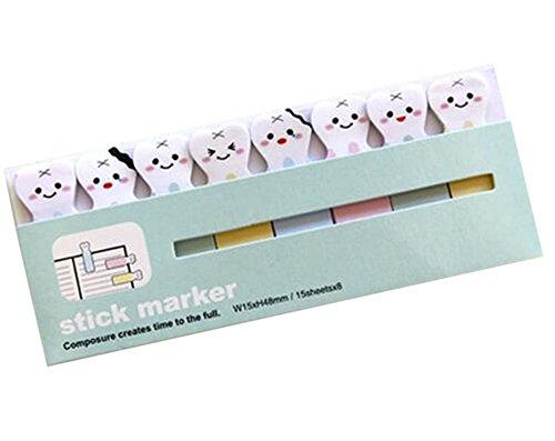 Annedenn Sticky Notes Klebezettel Lesezeichen (Zähne)
