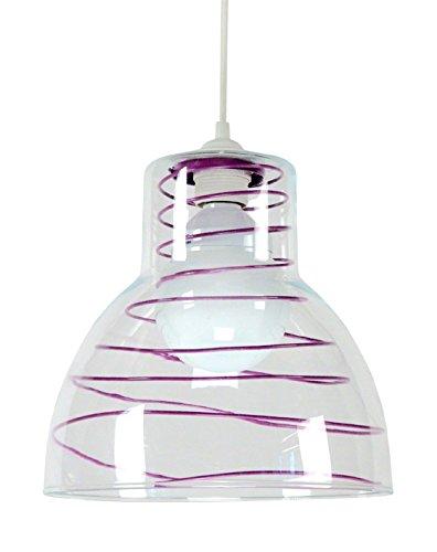 tosel-12593-suspension-cloche-verre-25-metal-100-w-e27-violet
