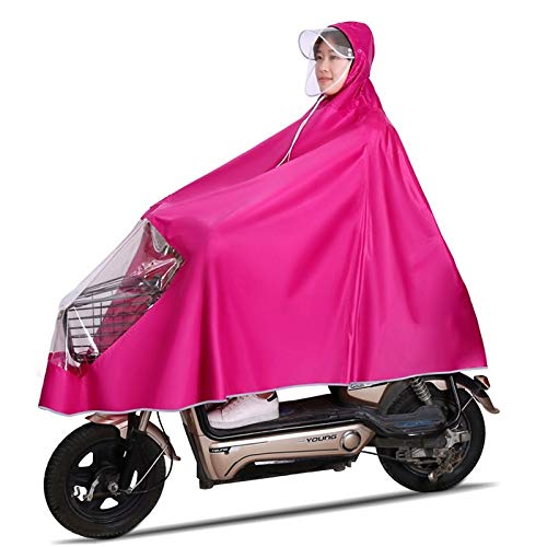 TXOZ Impermeabile Impermeabile for Bicicletta Ispessimento Auto Elettrica Moto Poncho Trasparente Specchietto Retrovisore Set Impermeabile for Esterno (Color : G, Size : 5XL)