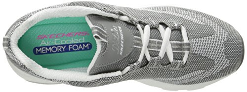 Skechers DLite Ultra, Formateurs Femme Gris (Grey/white)