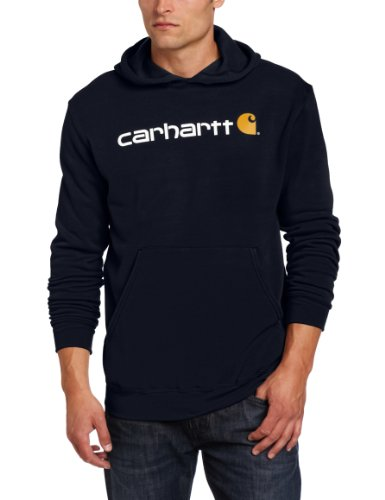 Carhartt .100074.472.s008 Signature Logo Hooded Sweatshirt, Colour: New Navy, Size: Xx-large