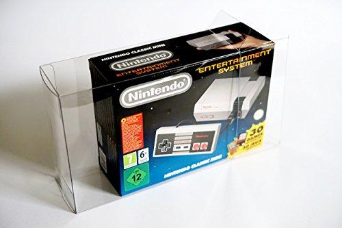 5 Stück Gegossen (Glacier Games 1 Klarsicht Schutzhülle/ Box Protector für Nintendo Classic Mini: Entertainment System/ NES CLASSIC MINI 0.5 mm PANZERSTÄRKE Originalverpackung Passgenau Glasklar)