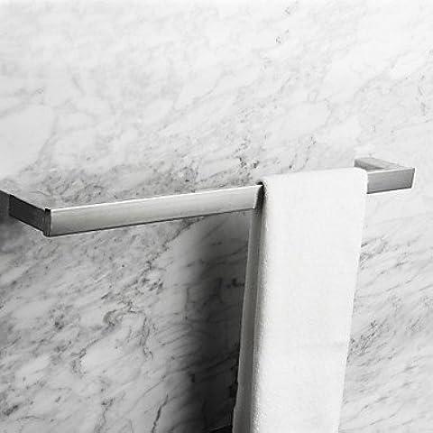 Cuadrado contemporáneo Toallero de acero inoxidable